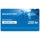 Bikester presentkort 250 kr